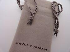 """Brand New David Yurman 3 1/2"""" x 2"""" Small Suede Jewelry Pouch"""
