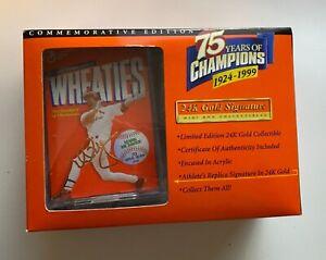 1999 Wheaties 75 years of Champions 24K Gold Signature Mini Box Mark McGuire