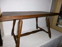 antiker Beistelltisch-Eiche massiv-Tisch-Stubentisch  90x50cm um 1960