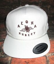 a3eabf1b189 MENS HURLEY ALOHA HAWAII WHITE SNAPBACK HAT ADJUSTABLE CAP ONE SIZE