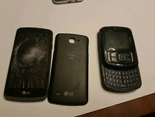 Cell Phone Lot, Broken For Parts Only, 2 verizon phones