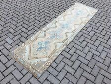 2'5''x8'5'' Antique Rug Carpet,Vintage Turkish Tribal Runner,Oushak Runner Rug