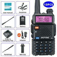 10PC Baofeng UV-5R 8W UHF VHF Dual Band Two Way Radio Walkie Talkie Transceiver