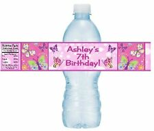 12 Butterflies Butterfly Birthday Party Or Baby Shower Water Bottle Stickers