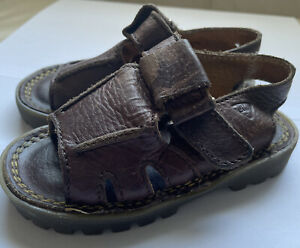 Toddler England Doc Martens Brown Shoes Size 7 Boys Girls Baby Sandals DM's