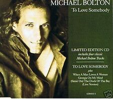 MICHAEL BOLTON TO LOVE SOMEBODY LIMITED EDITION 4 CLASSIC TRACKS CD SINGLE 1991