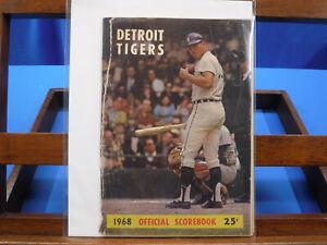 Detroit Tigers 1968 Official Scorebook
