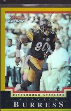 2004 BOWMAN CHROME FOOTBALL REFRACTOR PLAXICO BURRESS #34 STEELERS 23/50 *56691