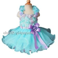 Infant/toddler/baby Halter Crystals Lace Floral Pageant Dress 12-18 Months G099