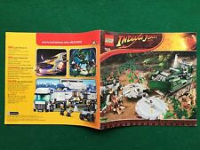 (Q63) CATALOGO montaggio LEGO 7626 INDIANA JONES 2008 Prospekt Catalogue KATALOG