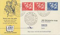 "NORWAY 1957 First Direct Flight ""OSLO - TOKYO via NORDPOL"" First flight with SAS"