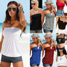 Sexy Women Off Shoulder Elastic Tube Tank Tops Blouse Strapless Bandeau Shirts G