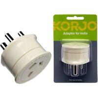 Korjo Travel Plug Adaptor For India Sri Lanka & Pakistan From Australia to India