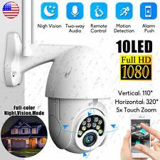 1080P HD IP CCTV Camera Waterproof WiFi PTZ Security Wireless IR Cam Outdoor
