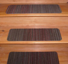 15  Step =  8'' x 24''  Indoor Stair Treads Staircase Step Rug Carpet  .