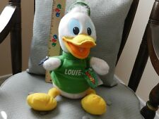 "Disney Applause DuckTales ""Louie"" Green Shirt Plush 13"" Stuffed Animal with Tags"