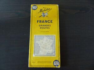 carte michelin 989 France grandes routes 1955 bon état