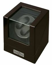 Dual Automatic 2 Watch Winder Box New High Quality Diplomat Dark Cherry