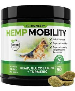 PetHonesty Hemp Mobility Hip & Joint Supplement w/ Hemp, Glucosamine & Tumeric