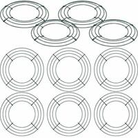 Hotop 10 Packs Metal Wreath Frame Green Round Wire Wreath Making Ring DIY