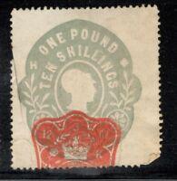 Edward VII - £1 10s. Blue Revenue - 1902 - Cut