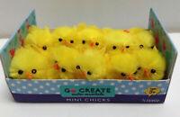 10 X Mini Yellow Fluffy Plush Easter Chenille Chicks
