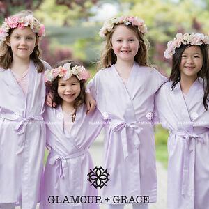 LILAC Children's Light Purple kids flower girl dressing gown robe bridesmaid
