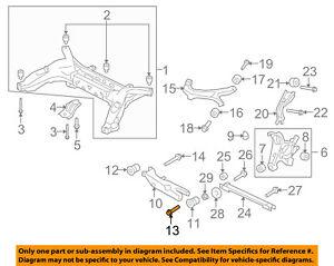 FORD OEM 08-09 Taurus X Rear Suspension-Lower Control Arm Bolt W710805S439