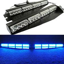 32LED DC 12V Car Police Emergency Traffic Advisor Strobe Blue LED Lights Bar NEW