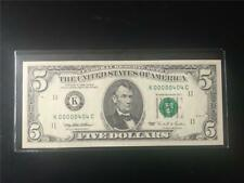 LAST OF THE SMALL HEAD $5s FANCY BINARY SN# CHGEM 1995 FRNs  < K 00000 404 C  >