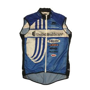 Men's 2013 Voler UHC Pro Cycling Summer Wind Vest, Blue, Size Medium EUC