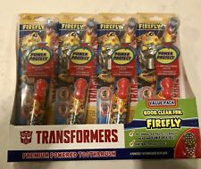 Lot of 4 Firefly Bumblebee Transformers Premium Battery Powered Toothbrushes NIP