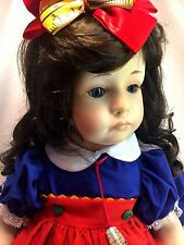 """World Gallery Colleen Applewhite LE 1500 Sew Perfect BIG 23"""" Porcelain Doll"""