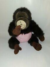 Vtg Chimpanzee Monkey Ape Gorilla Plush Pacifier pink diaper pants 9'