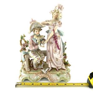 Fine Antique German KALK Bisque Figurine Marriage Proposal W/ A Ring Valentine