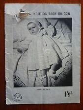 PATONS BABIES KNITTING PATTERN BOOK 328 - CARDIGANS FROCKS SHAWLS LEGGINGS