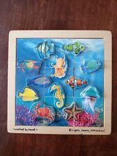 Lights Camera Interaction ! Aquatic Sea LIfe Fish 9 Piece Jig Saw Puzzle