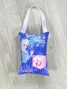 Personalised Tooth Fairy Pillow Elsa Tooth Pocket Cushion Hand Made Birthday