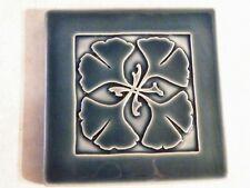 Carreaux Du Nord Art Tile Blue & White Clover Leaf Design Free Ship