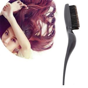 Salon Comb Hair Teasing Brush Wooden Handle Back Comb Natural Boar Bristle SG
