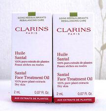 Clarins Santal face Treatment Oil For Dry Skin 2 X 2ml - BNIB
