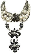 Modeschmuck-Halsketten & -Anhänger aus Kristall mit Perlen für Damen