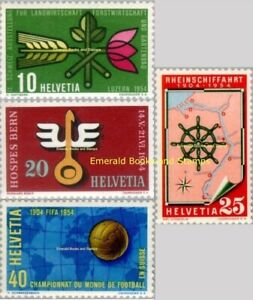 EBS Switzerland Helvetia 1954 Significant Events 593-596 MNH**