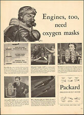 1943 WW2 ad for Packard built Rolls Royce Engines great art!  (112716)