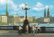 Postkarte - Hamburg / An der Alster