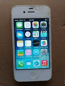 Apple iPhone 4 - 8GB - White (Unlocked) A1332 (GSM) FAULTY