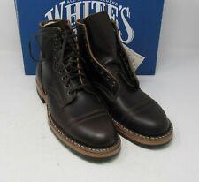 "Whites Boots. MP360-HL-LUG,Dark Brn Wx, 10 D, 5.5"", Half lug."