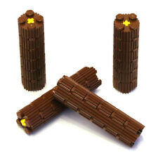Lego Technic Logs Tree Trunks Wood Timber x4 - Suitable for 42080 or 42054 - NEW