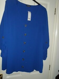 Evans tunic top in Blue size 24 BNWT