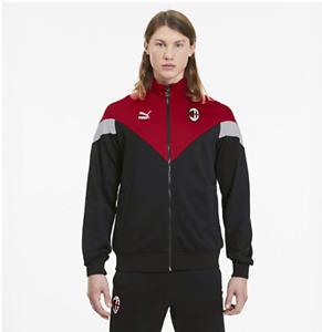 AC Milan Men's Jacket Puma Iconic Full Zip Track Jacket - Black - New